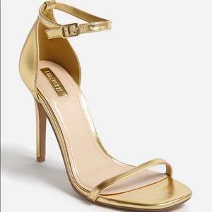Gold Simple Strap Stiletto